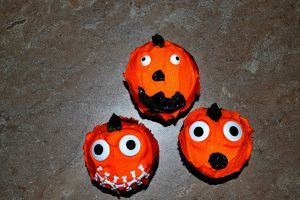 Devil's Food Chocolate (of course) Jumpin' Jack Halloween Cupcakes