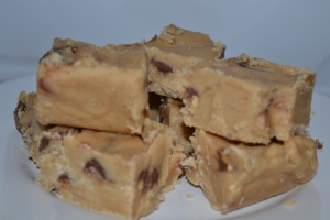 Peanut Butter & Mr. Goodbar Fudge. YUM!