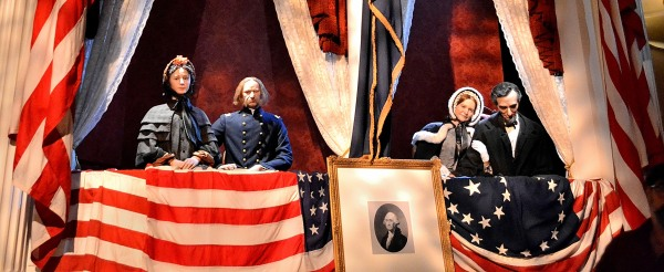 The President and Mrs. Lincoln watching the play